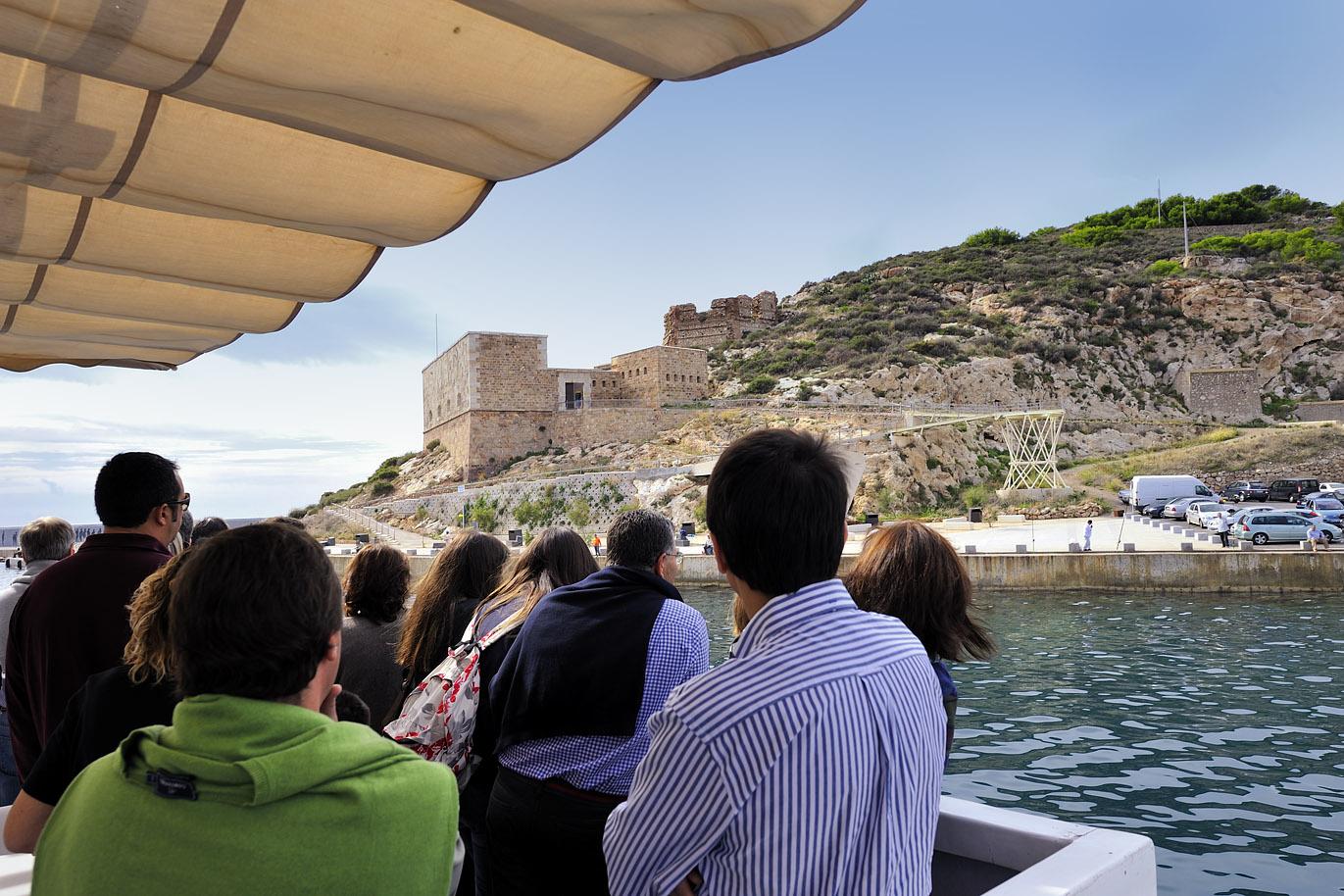 Vistas del Fuerte de Navidad desde el barco turístico