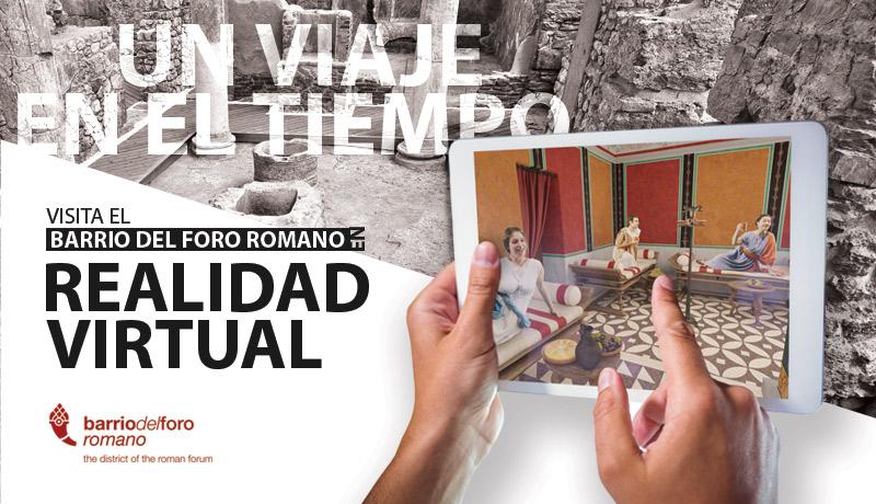 Alquiler de tablets. Visita el Barrio del Foro Romano en realidad virtual